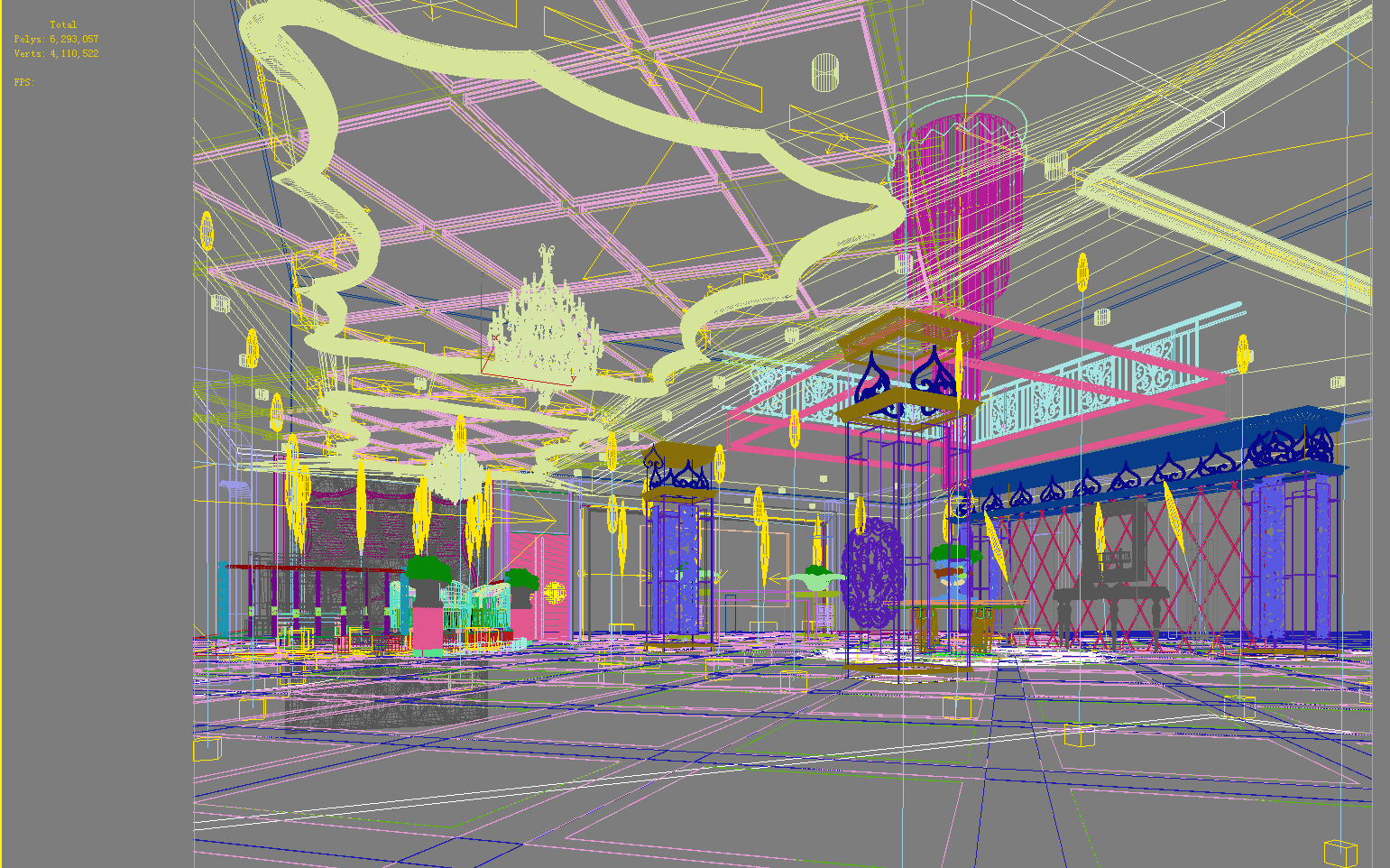 lobby 151 two 3d model max 137056