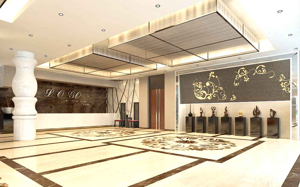 lobby 153 two 3d model max 137057