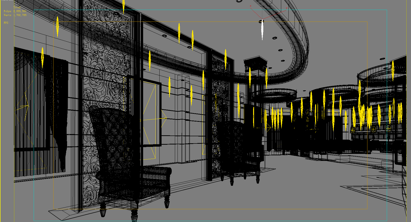 lobby 156 two 3d model max 137064