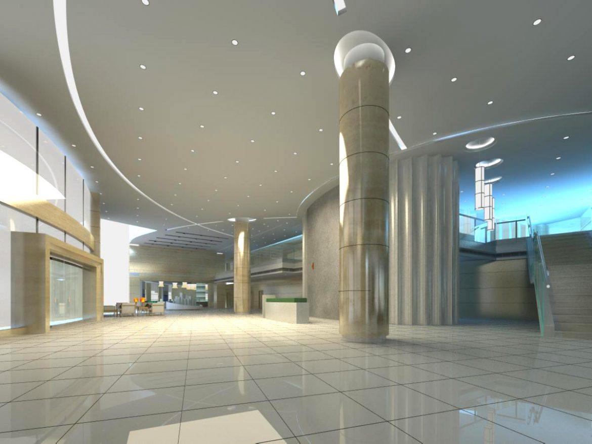 lobby 164 two 3d model max 137087