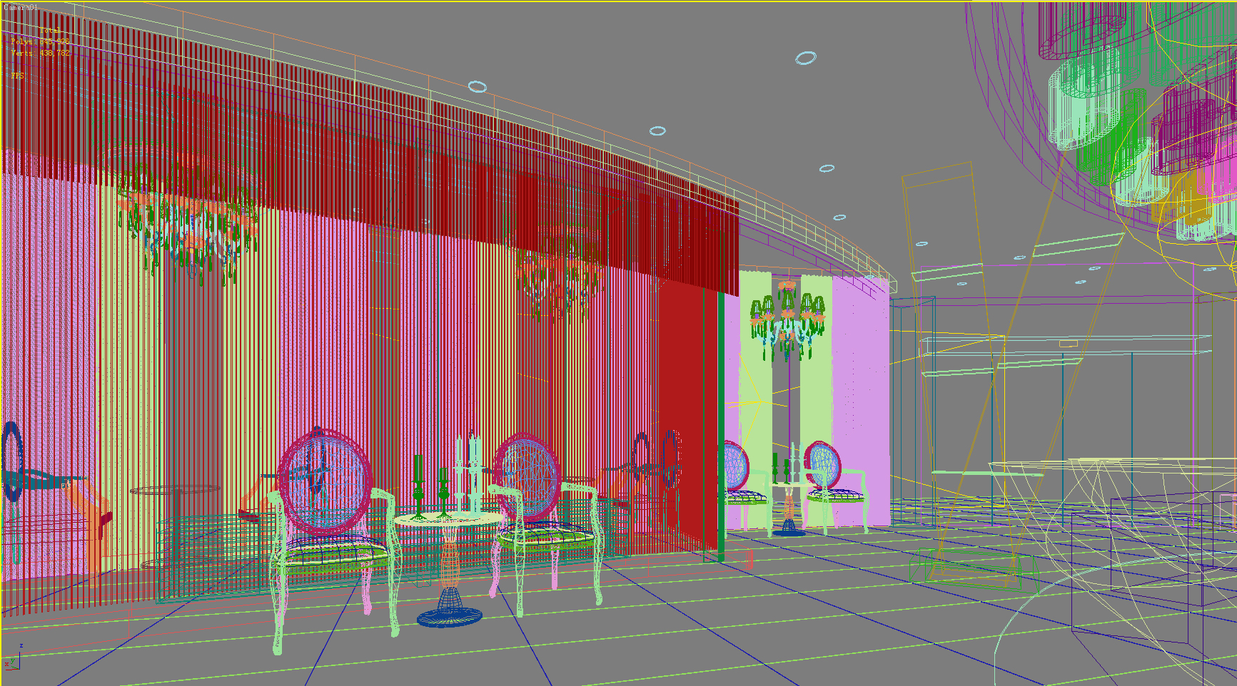 lobby 174 two 3d model max 137108