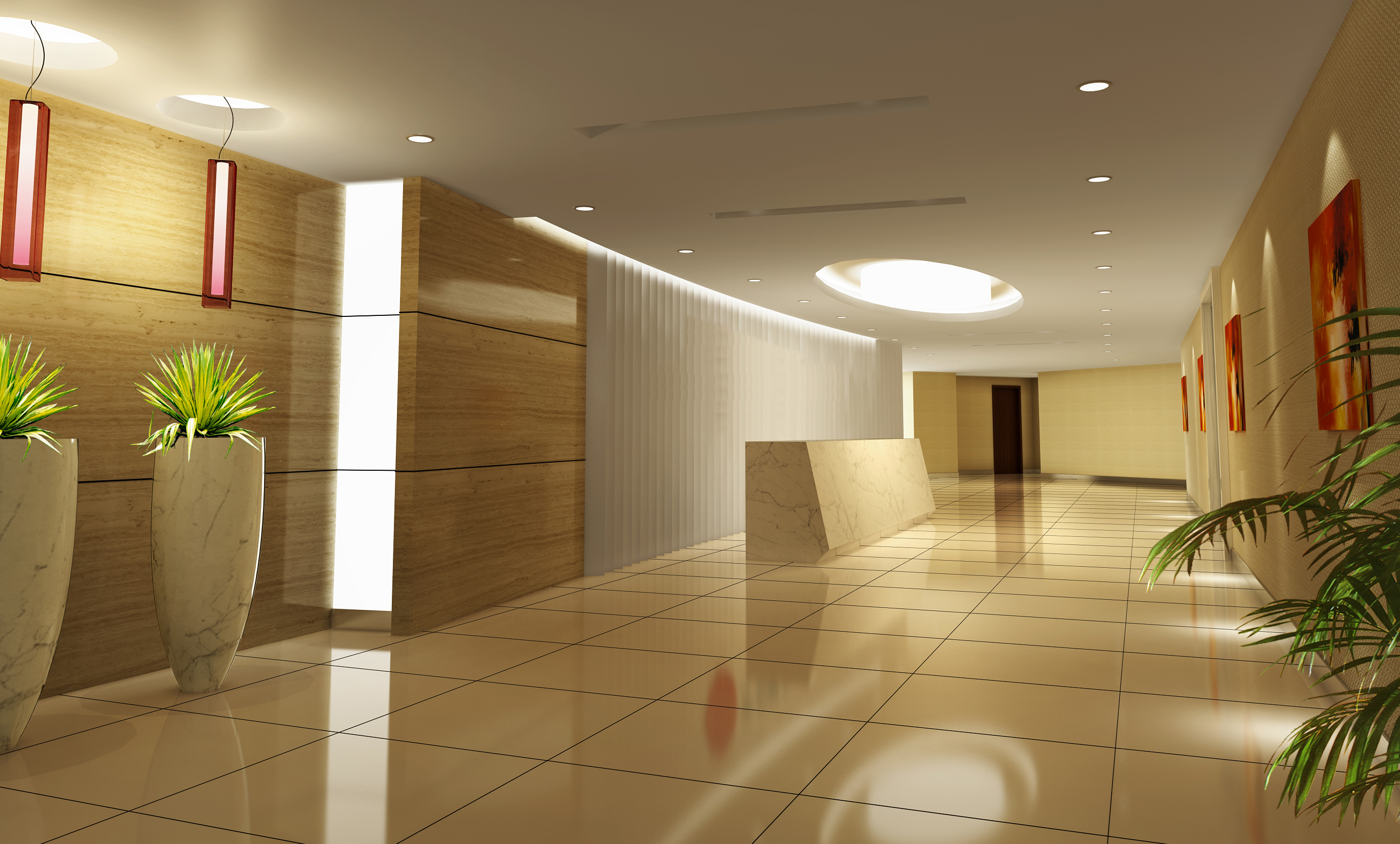 lobby 178 two 3d model max 137115