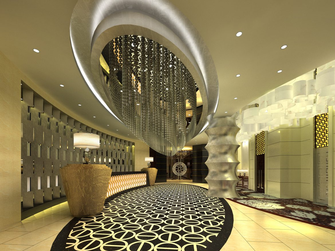 lobby 186 two 3d model max 137131