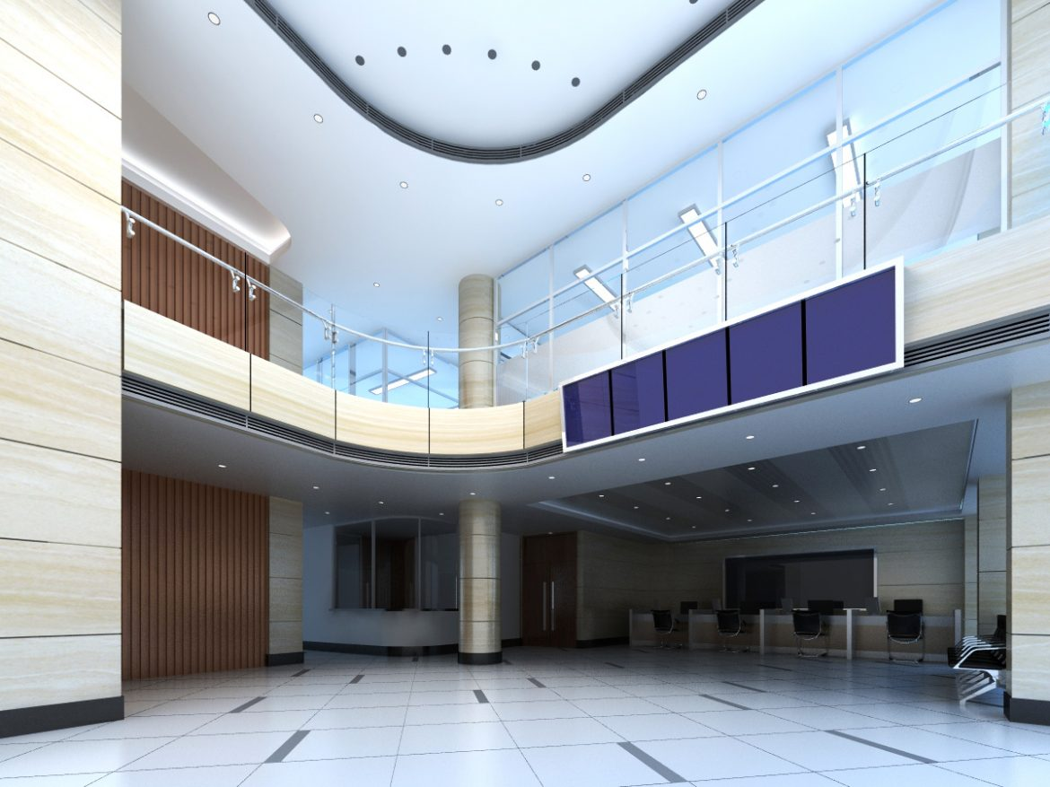 lobby 194 two 3d model max 137147