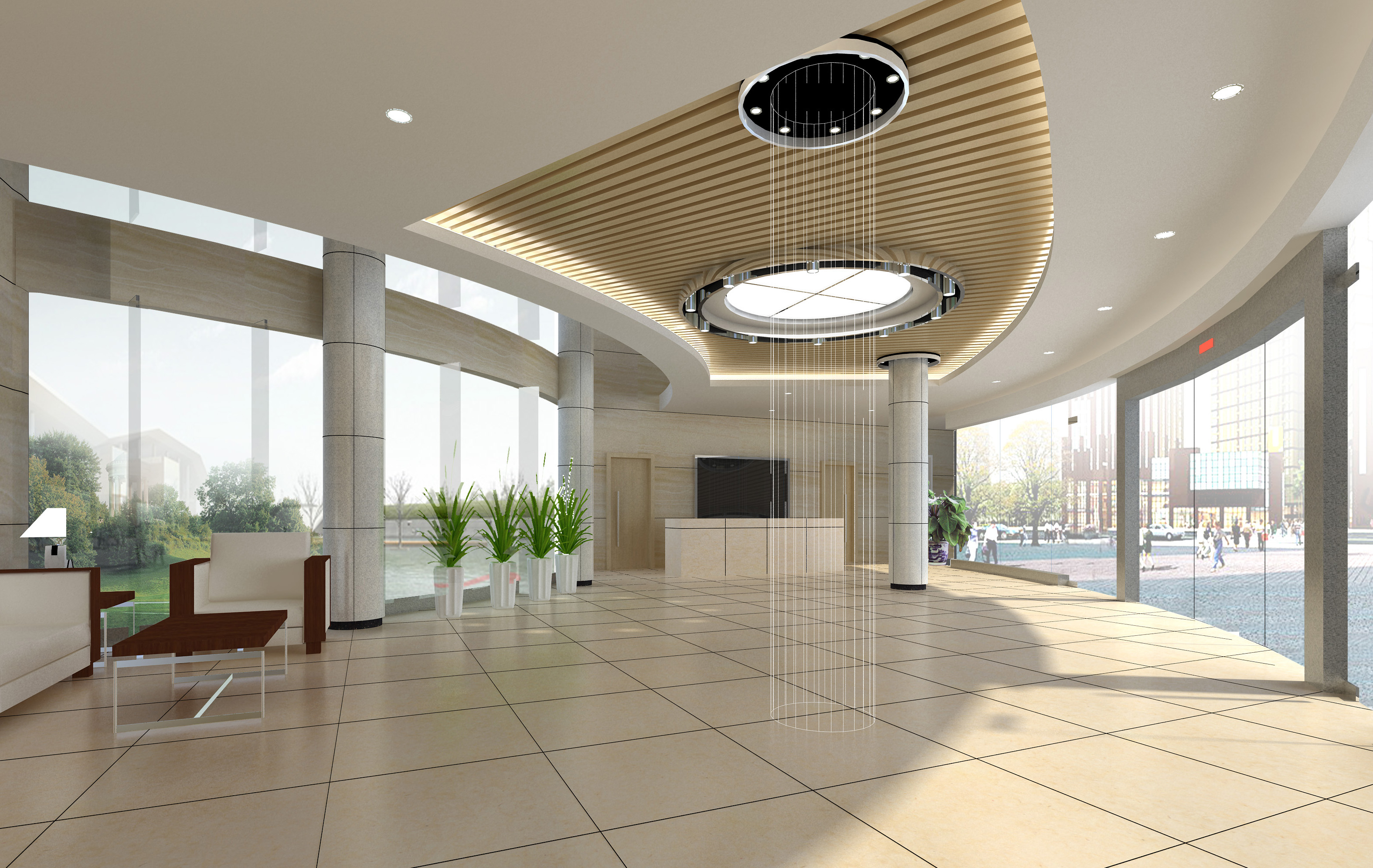 lobby 198 two 3d model max 137155