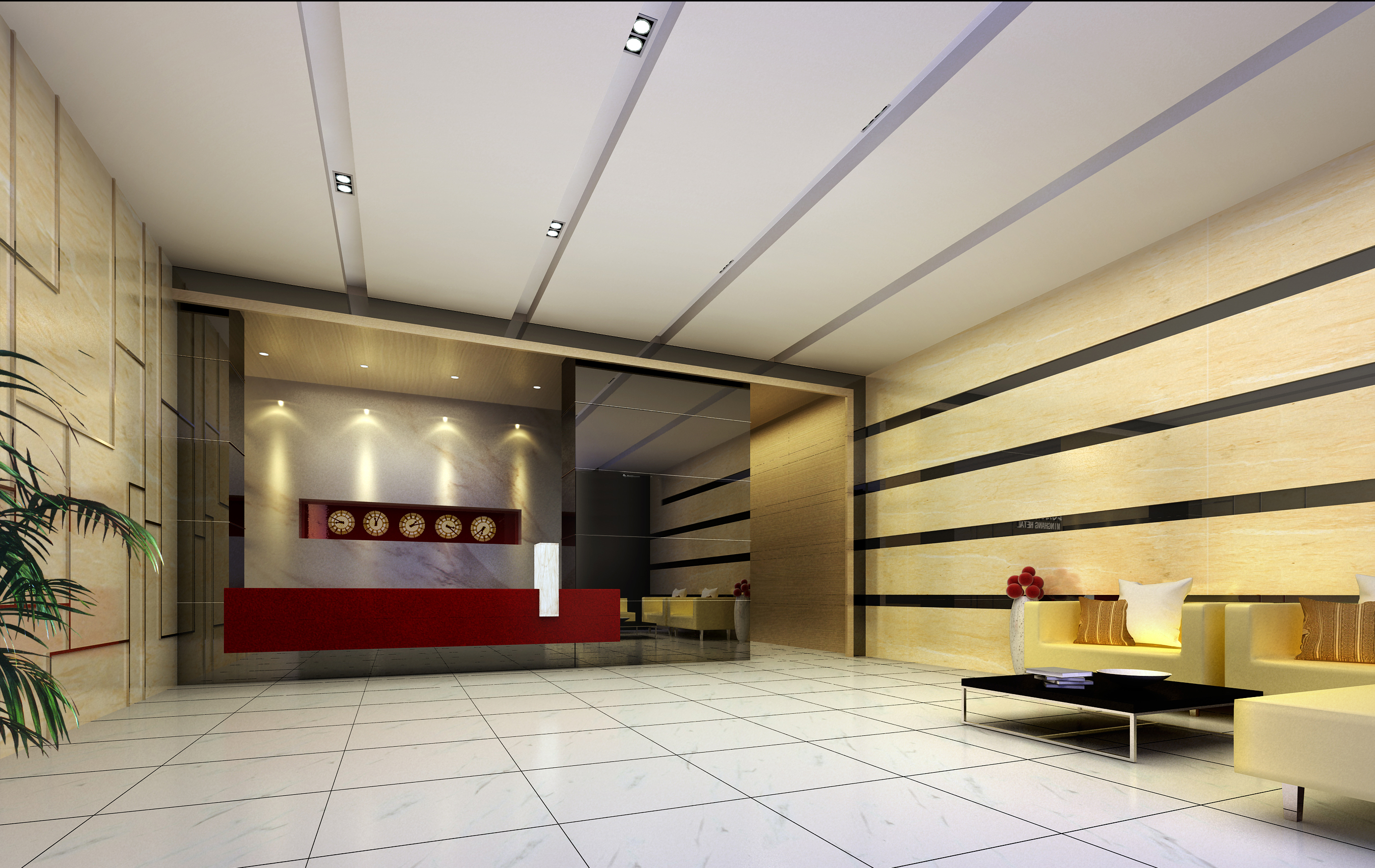 lobby 203 two 3d model max 137165