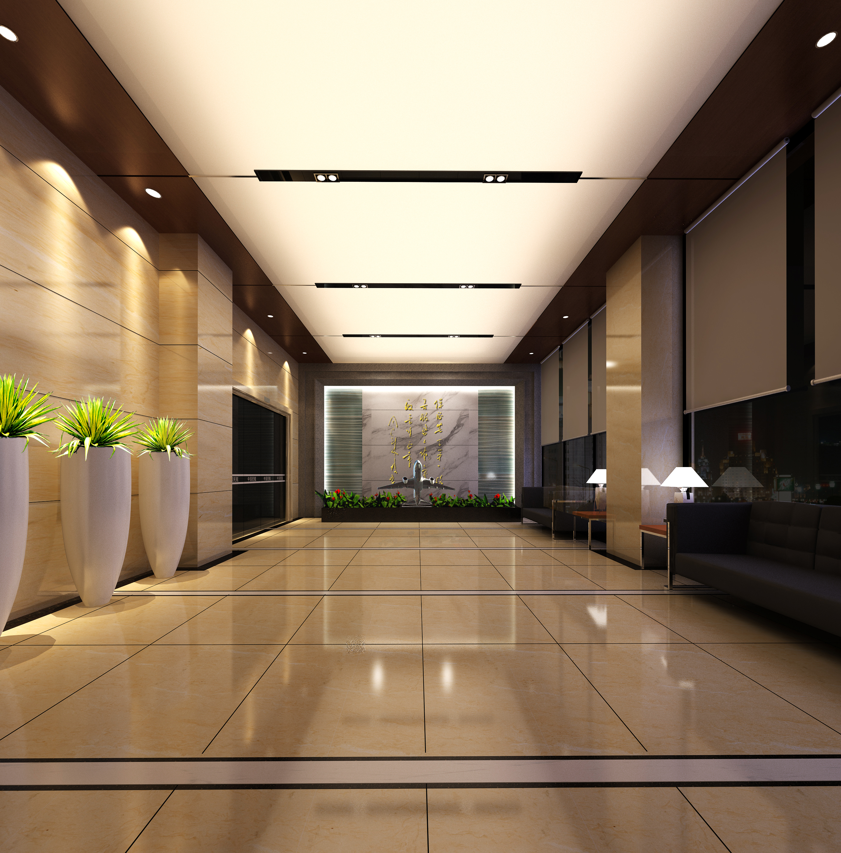 lobby 204 two 3d model max 137167