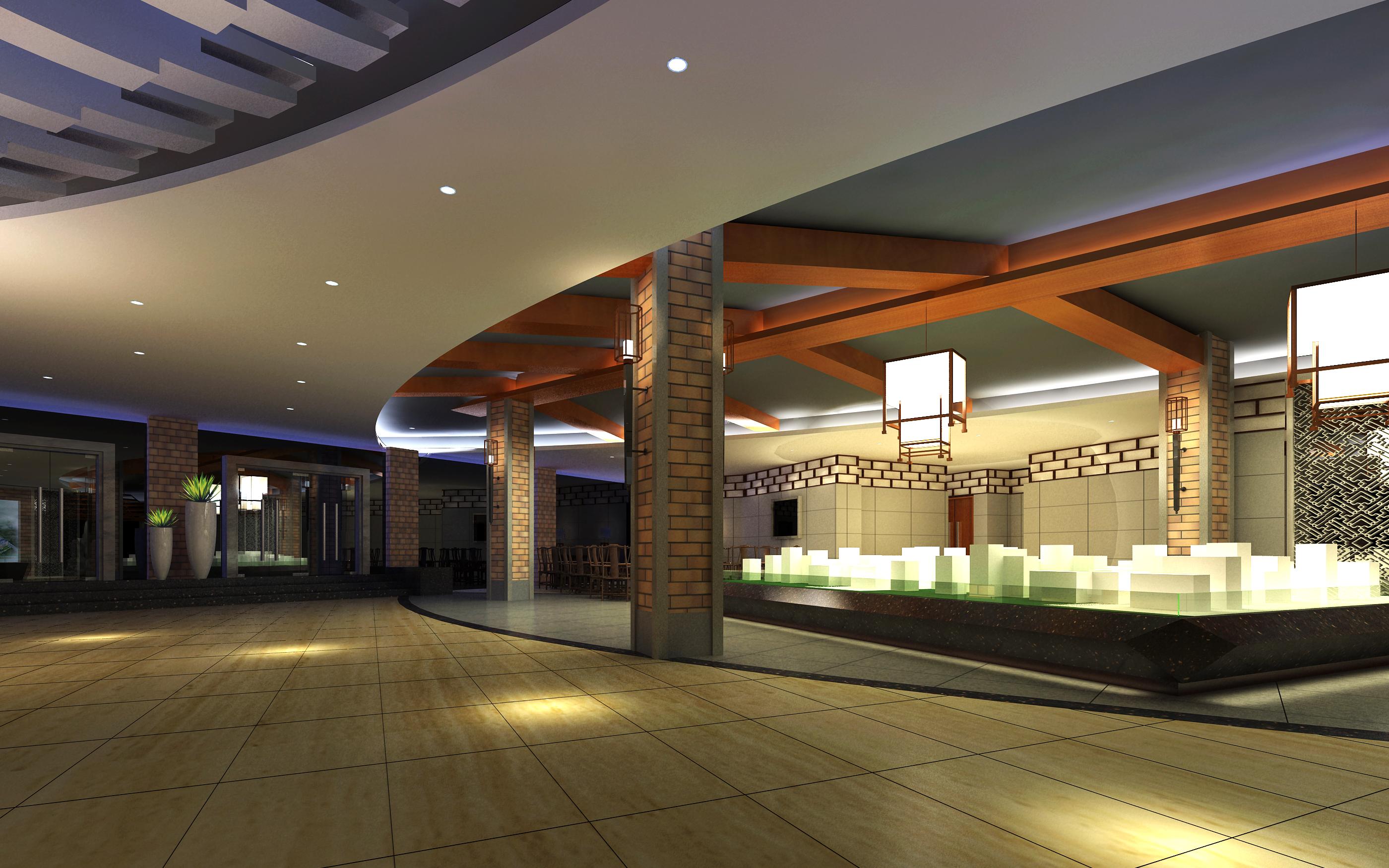 lobby 218 3d model max 137195