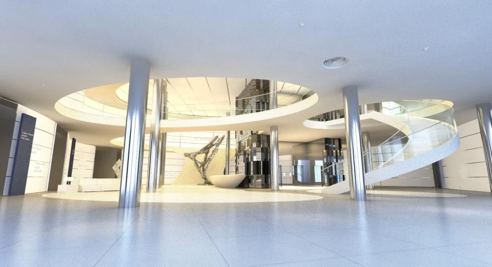 lobby area 056 3d model max 136837