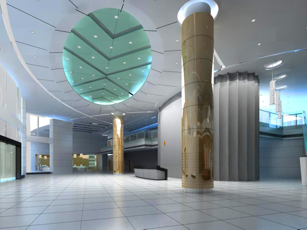 lobby area 167 two 3d model max 137093