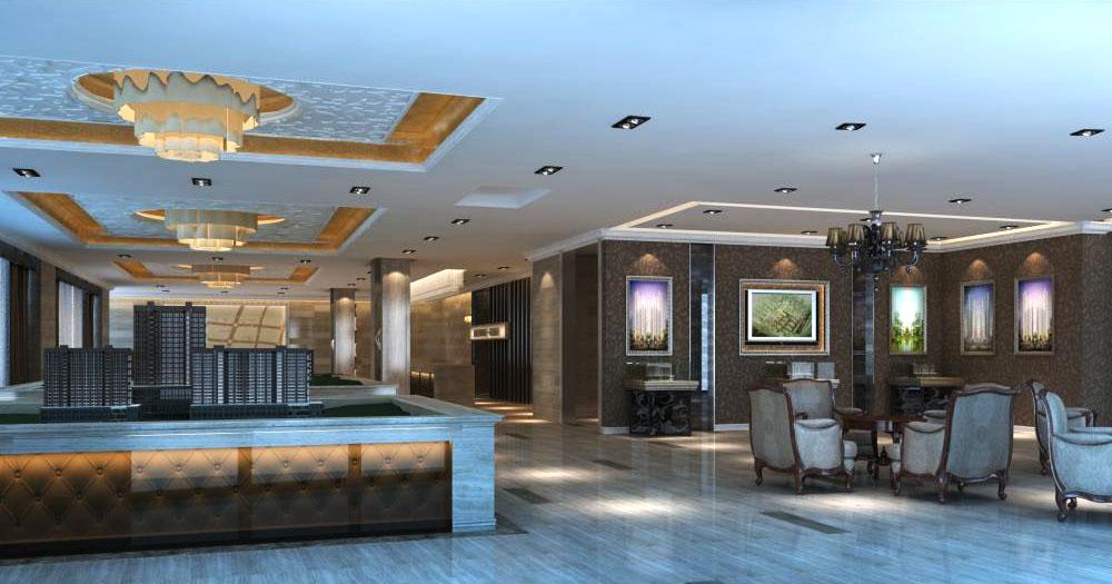lobby seven five 075 3d model max 136872