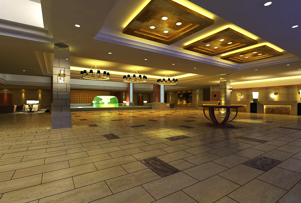lobby spaces 120 two 3d model max 143656