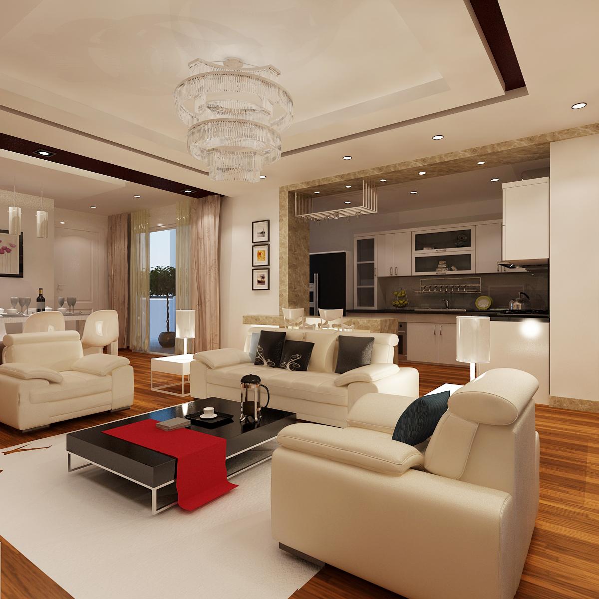 Barano Model Home Interior Design: Luxury Detailed House Cutaway 3D Model 3D Model