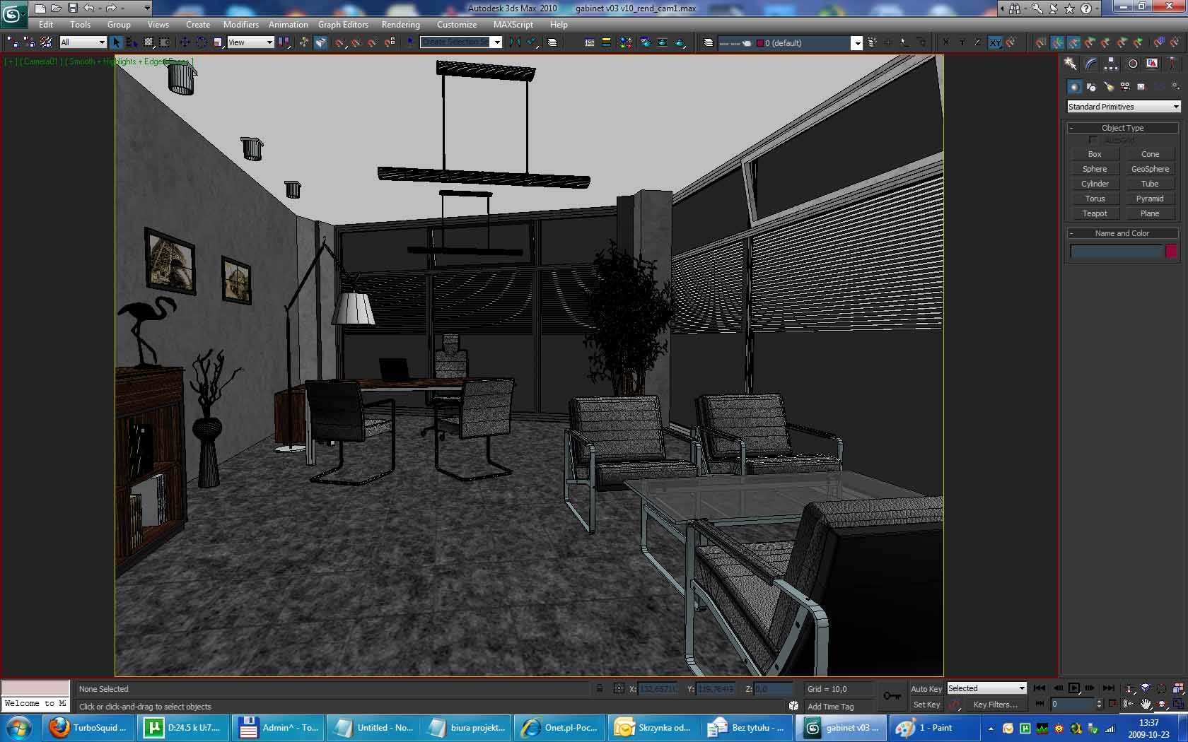 maxwell render scene: office building interior 3d model 3ds max dwg lwo hrc xsi texture wrl wrz obj other 117882