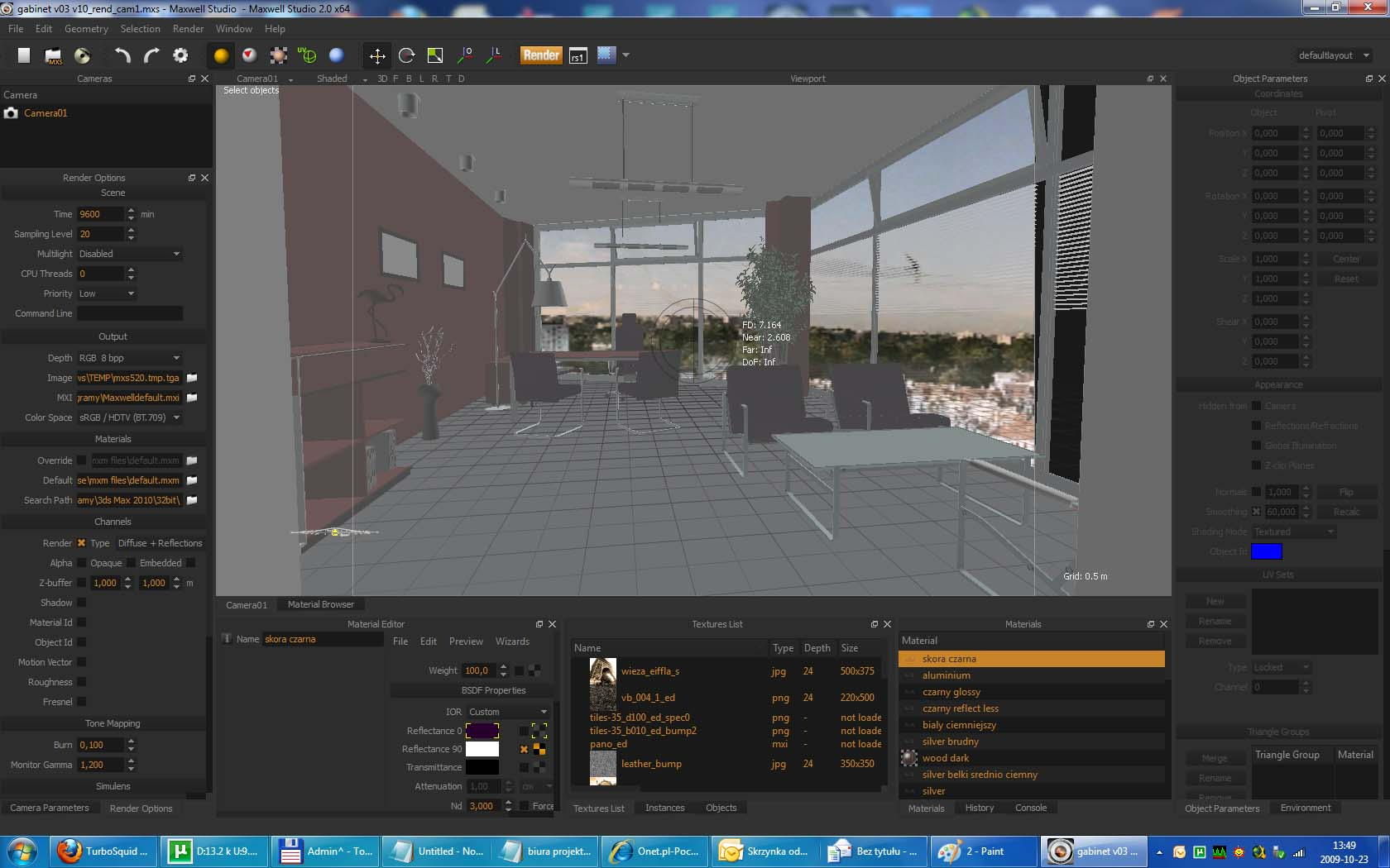 Maxwell Render Scene: Office Building Interior