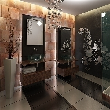 modern bathroom 3d model 3ds max fbx c4d lwo png hrc xsi texture obj 111929
