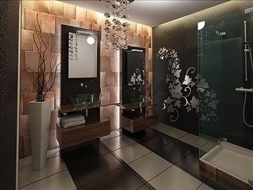 modern bathroom 3d model 3ds max fbx c4d lwo png hrc xsi texture obj 111930