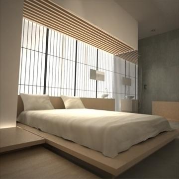 modern japán hálószoba 3d max. max. 92378