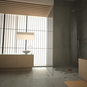 modern japanese bedroom 3d model max 92384