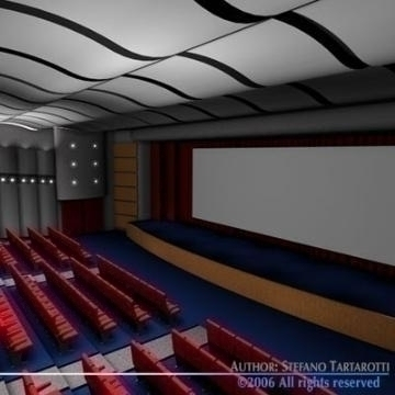 movie theatre 3d model 3ds c4d obj 77497