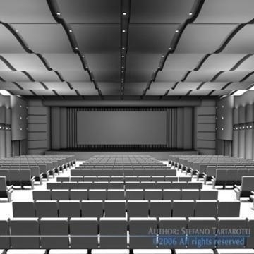 movie theatre 3d model 3ds c4d obj 77498