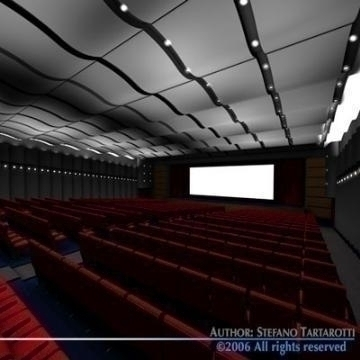 movie theatre 3d model 3ds c4d obj 77499