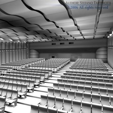 movie theatre 3d model 3ds c4d obj 77500