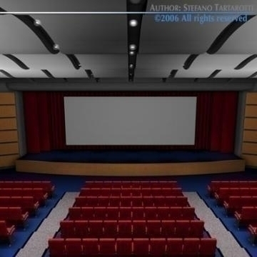movie theatre 3d model 3ds c4d obj 77501
