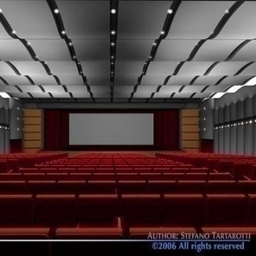 movie theatre 3d model 3ds c4d obj 77502