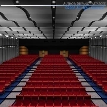 movie theatre 3d model 3ds c4d obj 77503