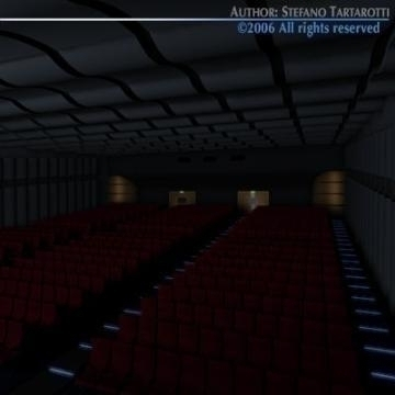 movie theatre 3d model 3ds c4d obj 77504