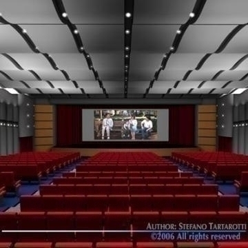 movie theatre 3d model 3ds c4d obj 77506