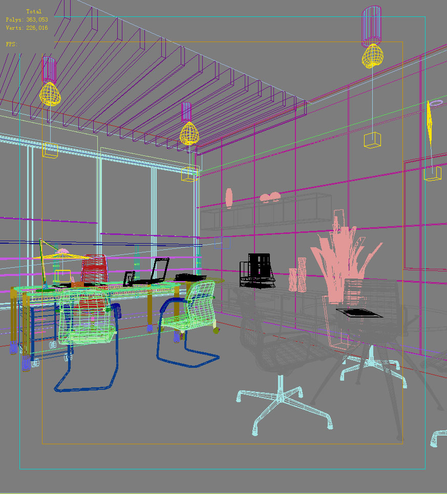 office 020 two 3d model max 137234