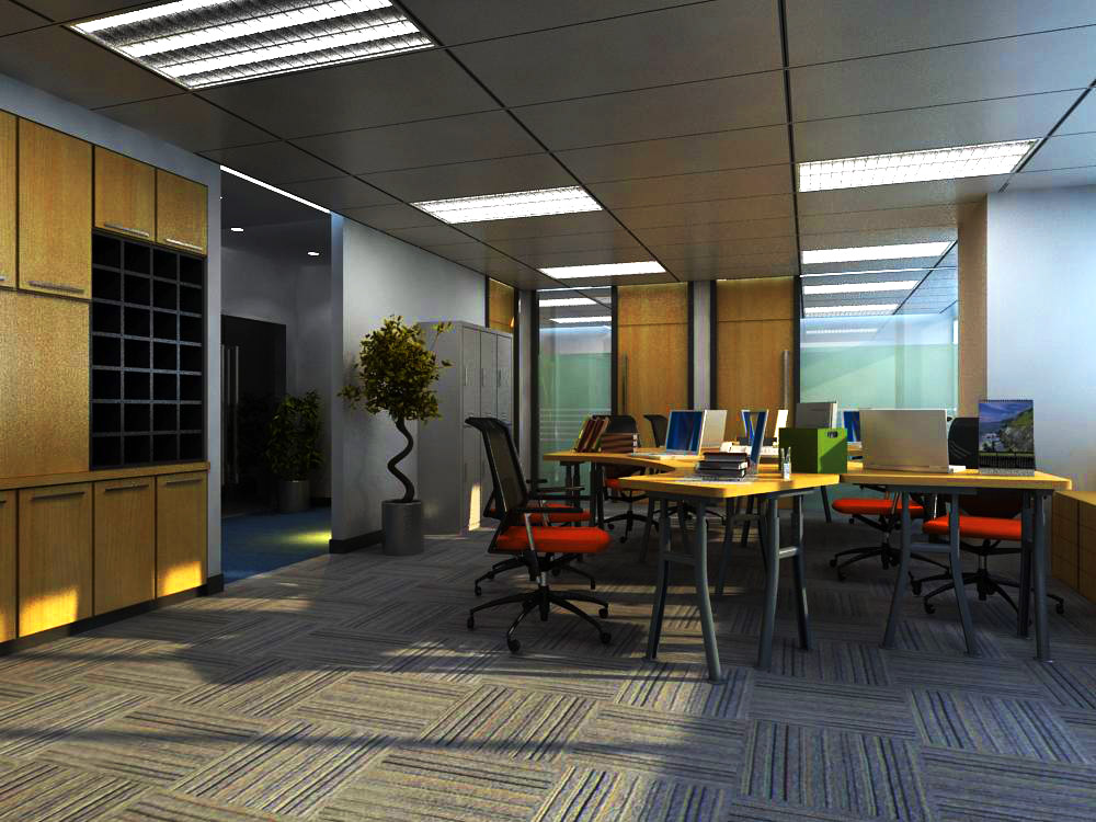 office 023-3 three 3d model max 144006