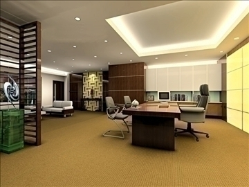 office 035 3d model 3ds max 90266