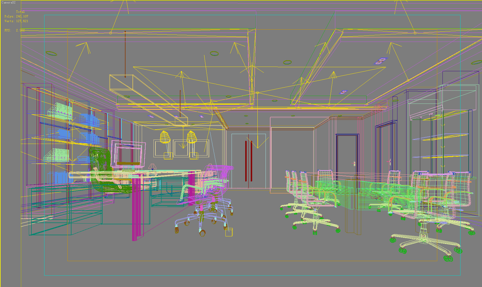 office 042 two 3d model max 137276
