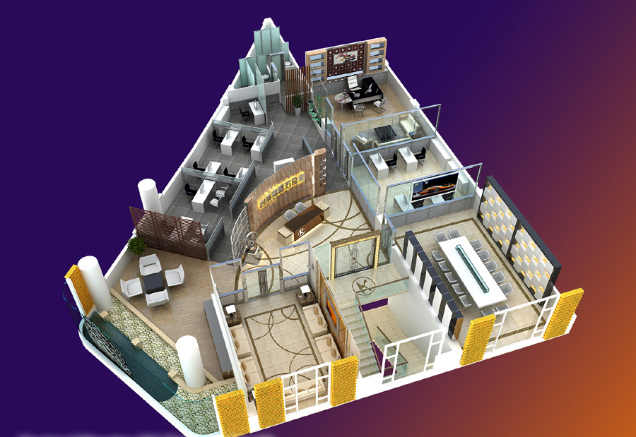 office 054 one 3d model max 137299