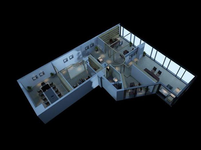 office 070-1 3d model max 137331