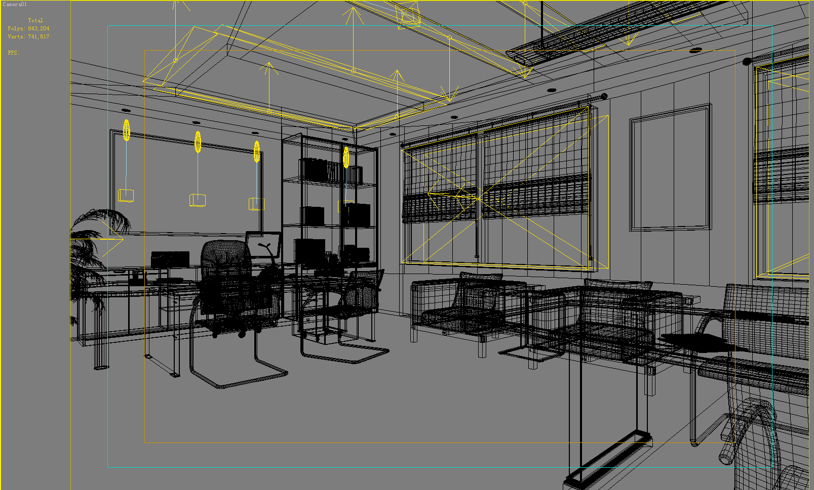 office 108 two 3d model max 144789