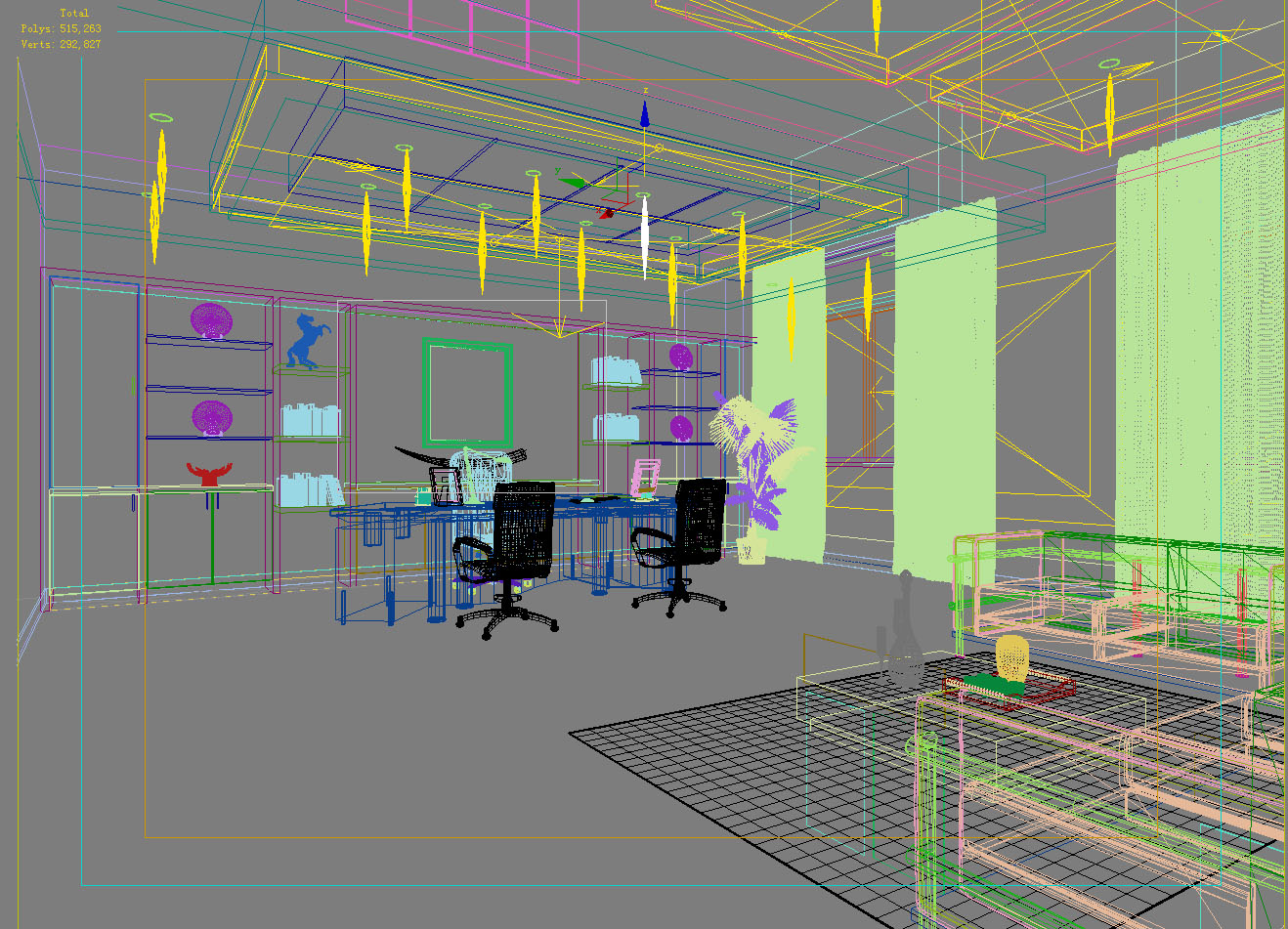 office 117 3d model max 137441