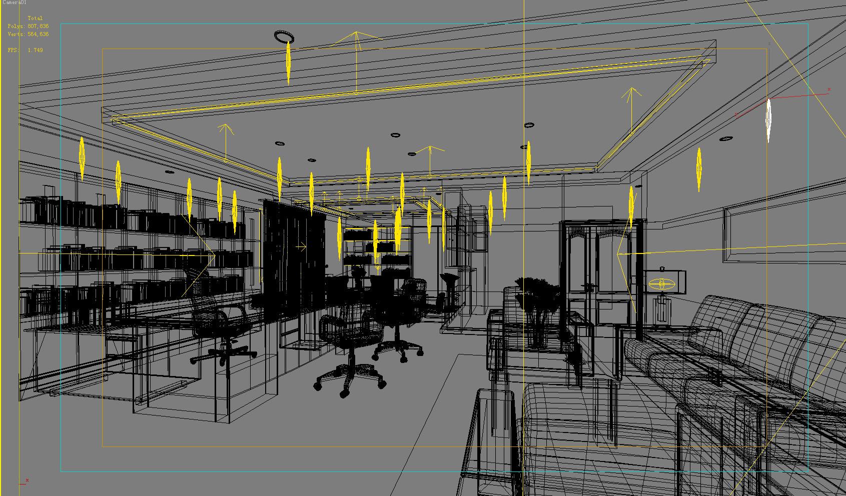 office 120 3d model max 137447