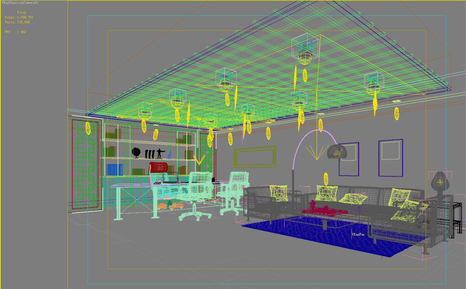 office 124 3d model max 137453
