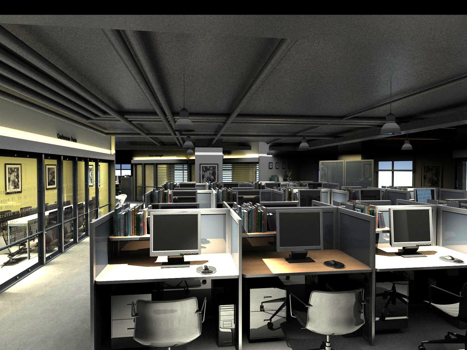 office 127 3d model max 122077