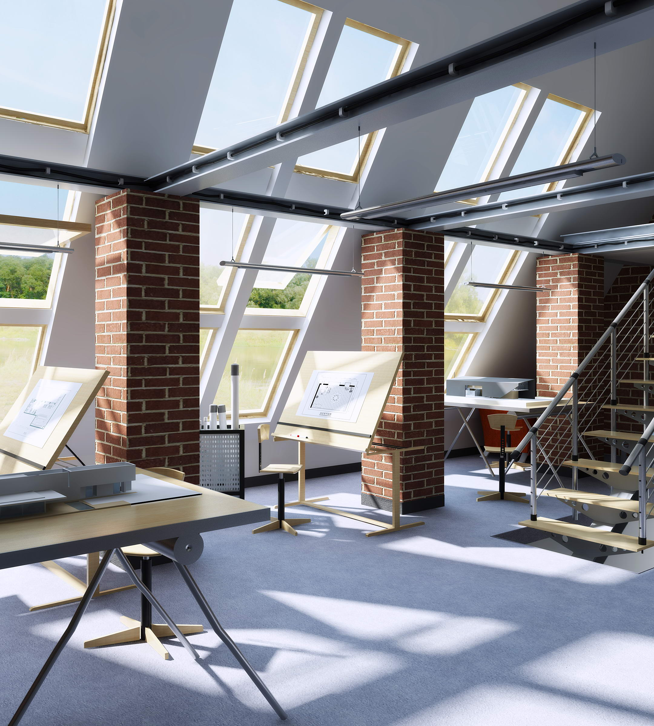 office 132 3d model max 122088