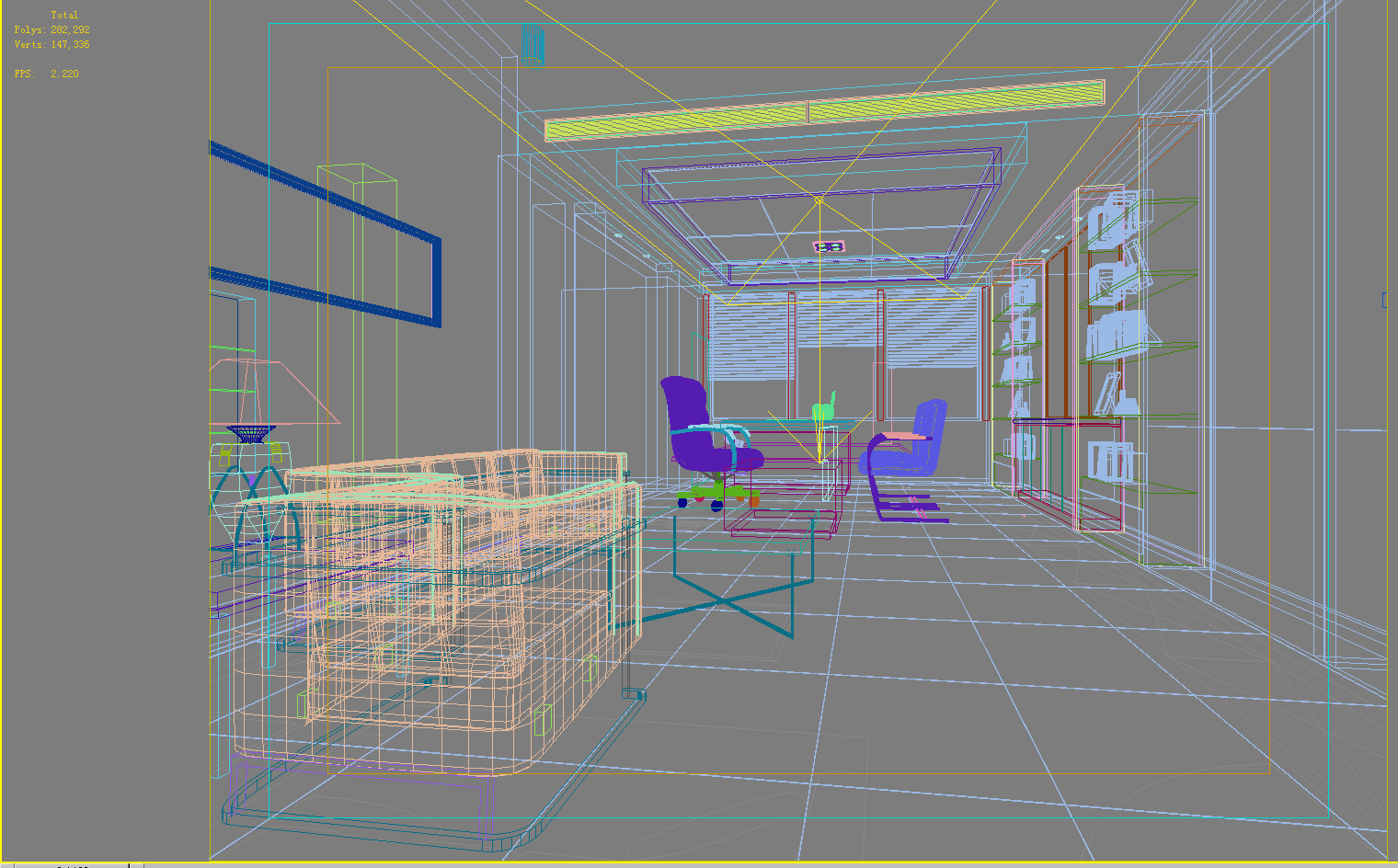 office 133 two 3d model max 137471