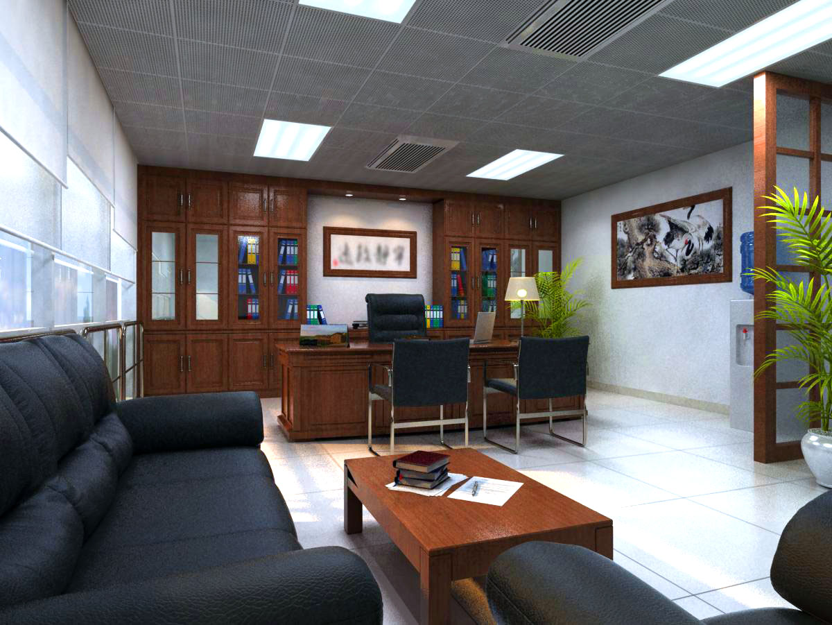 office 134 3d model max 122093