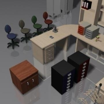 office furniture set volume 1 3d model 3ds max 78828