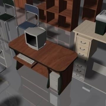 office furniture set volume 1 3d model 3ds max 78831