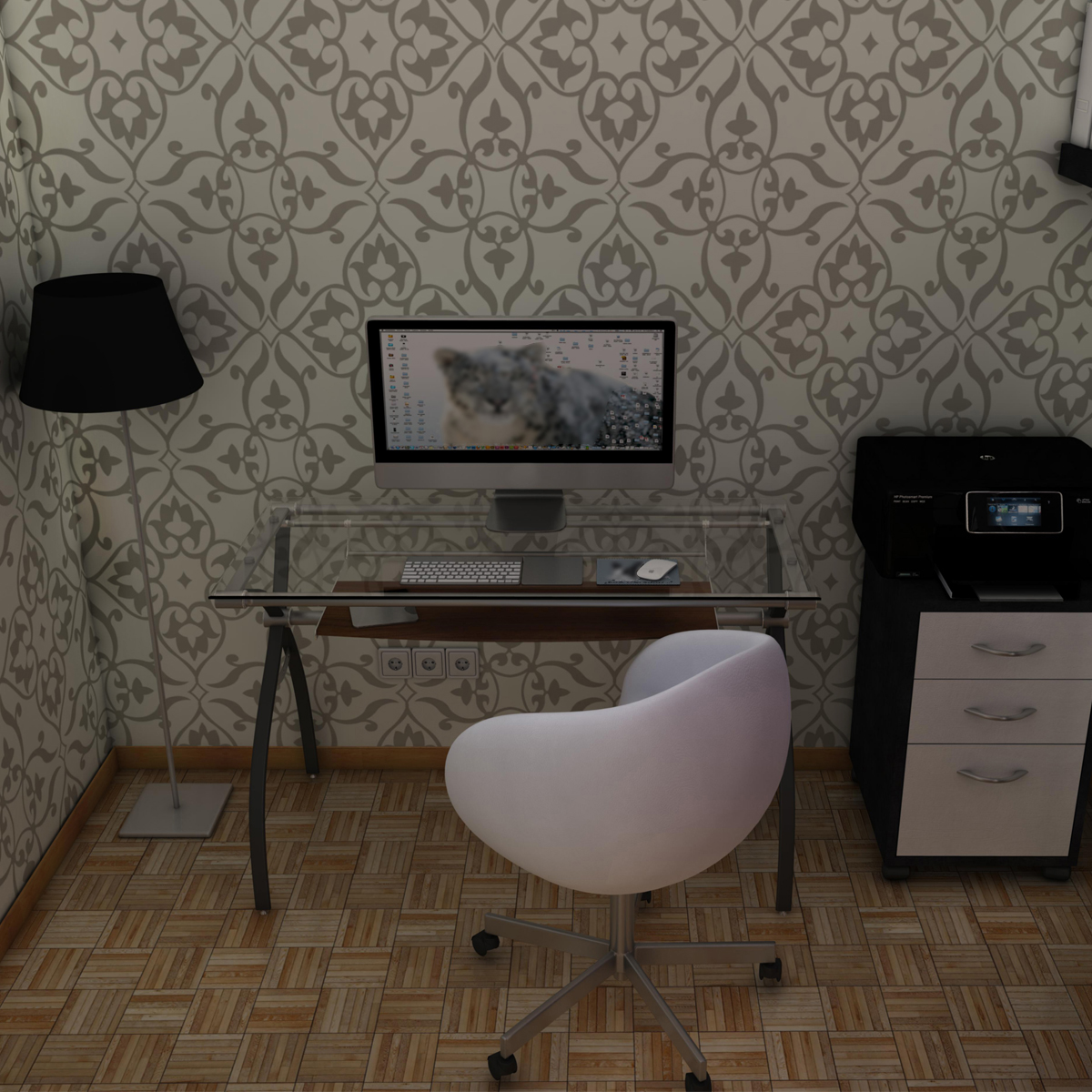 office room 3d model 3ds max fbx c4d ma mb obj 159570