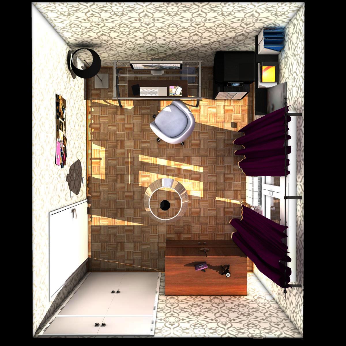 biroja telpa 3d modelis 3ds max fbx c4d ma mb obj 159579